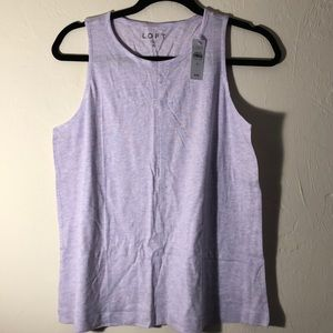 NWT Heather Purple Tank with Seam down Middle